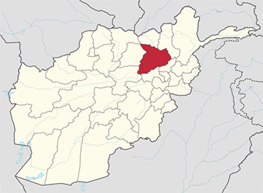 Baghlan in the Afghanistan Map